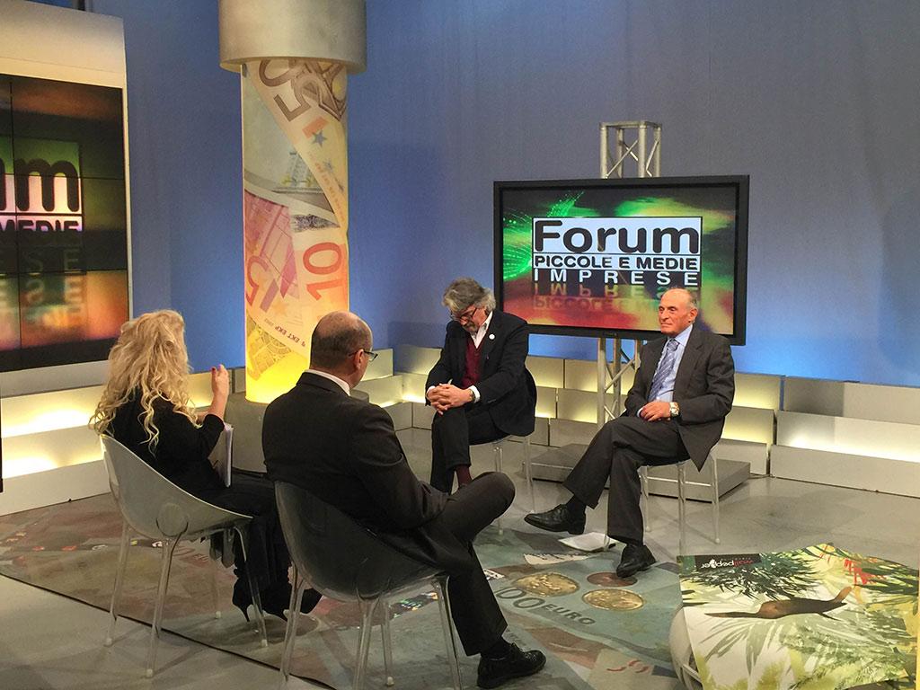 2016-02-17 Aldo Romanini Segretario Generale Assimpresa Trasmissione Telelombardia FORUM PMI (1)