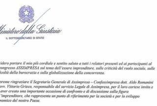 Lettera Di Saluto Del Ministro Cosimo Maria Ferri